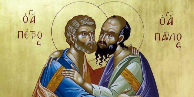 Ιερά πανήγυρις των Αγίων Αποστόλων Πέτρου και Παύλου αύριο στον ομώνυμο ναό στην περιοχή του Αγίου Π...