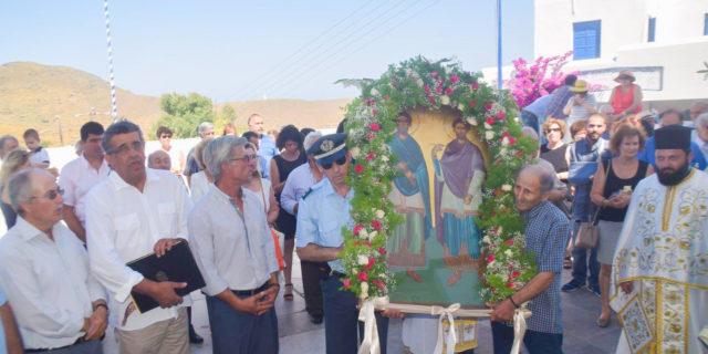 Λαμπρός ο εορτασμός των Αγίων Αναργύρων στα Θολάρια