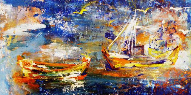 Έκθεση ζωγραφικής Greekblue by Angela Petrova στο ξενοδοχείο Αιγιαλίς