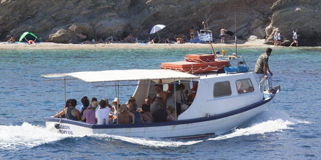 Καθημερινά και ανά μία ώρα οι βάρκες από Καλοταρίτισσα για Γραμβούσα