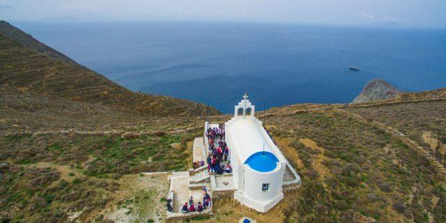 Οι εσπερινοί και οι Θείες Λειτουργίες προς τιμήν του Αγίου Δημητρίου στην Αμοργό