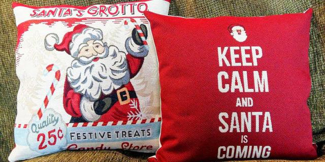 Διακοσμώντας το σπίτι μας με απίθανα Χριστουγεννιάτικα μαξιλάρια με τη βοήθεια της Αμοργιανής Σοφίας...