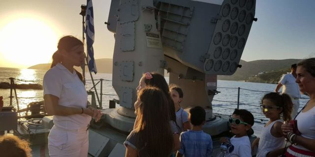 Στην Αμοργό βρέθηκε το Σαββατοκύριακο το πλοίο του Πολεμικού Ναυτικού Δανιόλος
