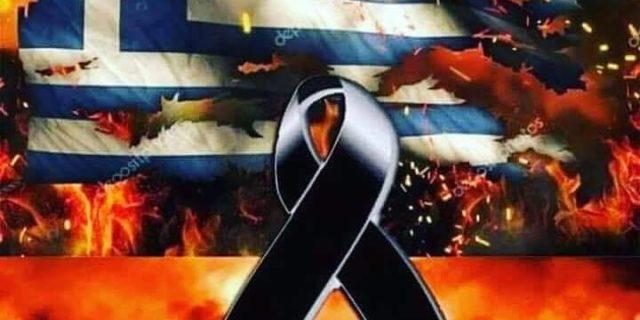 Το Δ.Σ. της Ενωσης Καταπολιανών Αμοργού συμμετέχοντας στο Εθνικό πένθος για τα θύματα των καταστροφι...
