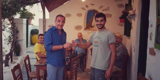 Για την επίσκεψη του Νίκου Αλιάγα στην Αμοργό και την προβολή του νησιού στο εξωτερικό μίλησε στο am...