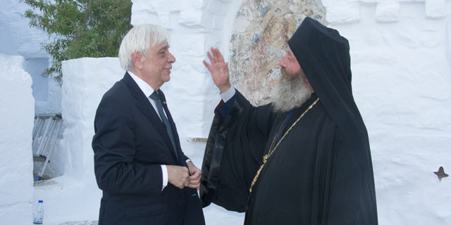 Όταν ο Πρόεδρος της Δημοκρατίας επισκέφτηκε την Μονή της Χοζοβιώτισσας