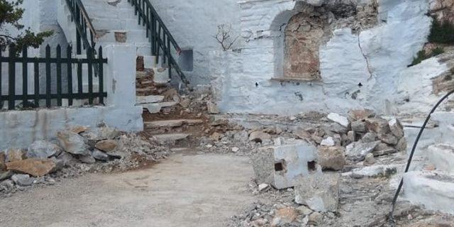 Μεγάλες καταστροφές στο Μοναστήρι της Παναγιάς της Χοζοβιώτισσας