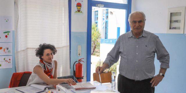 Το εκλογικό του δικαίωμα άσκησε ο υποψήφιος Δήμαρχος Νικόλαος Φωστιέρης