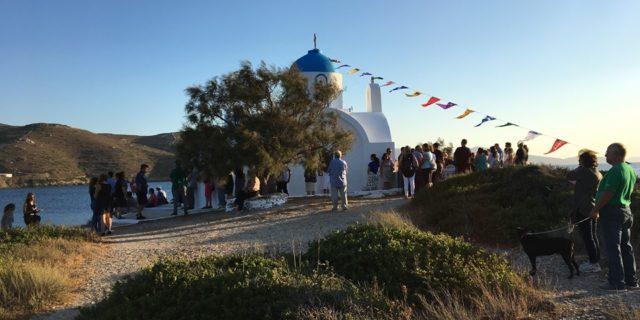 Στο γραφικό εκκλησάκι του Αγίου Παντελεήμονος στα Κατάπολα