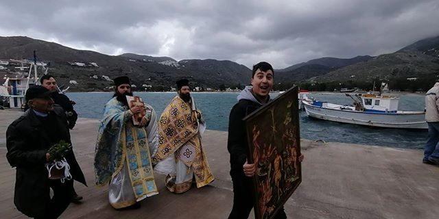 Στο λιμάνι της Αιγιάλης για τον Αγιασμό των Υδάτων